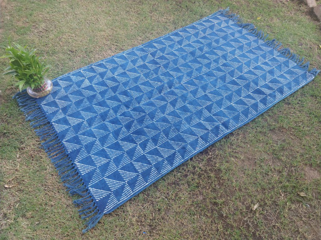 Cotton Indigo Floor Rug