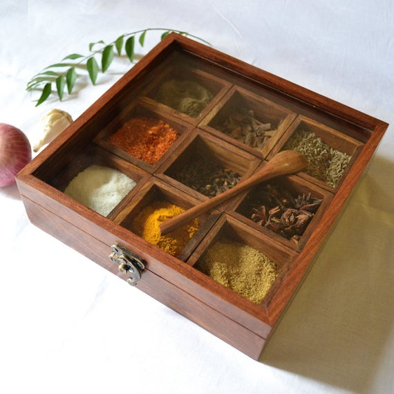 Wooden Spice Box-13471