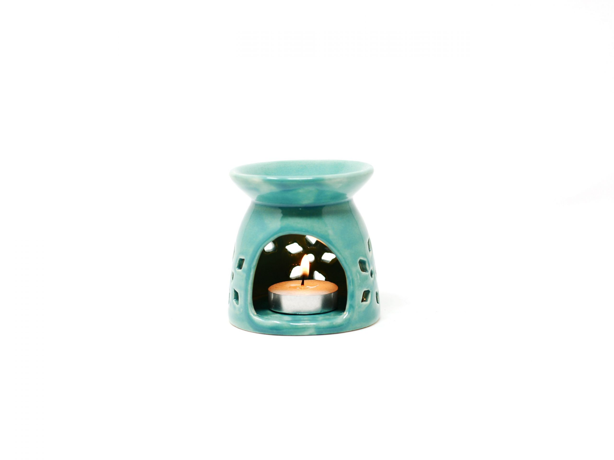 Ceramic Oil Diffuser Fragrance Lamps (Turquoise)